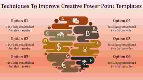 A six noded creative power point templates