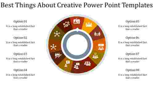 A eight noded creative power point templates