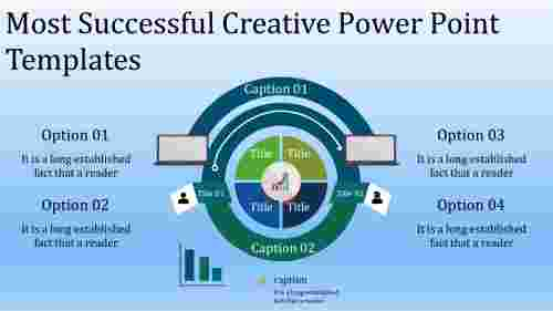 A five noded creative power point templates