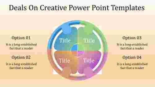 A four noded creative power point templates