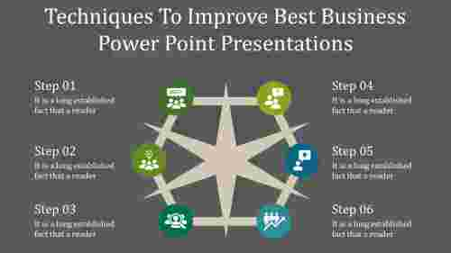 A six noded best business power point presentation