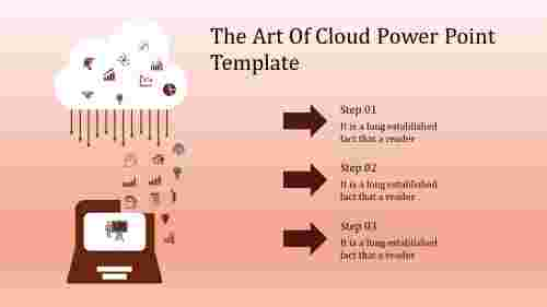 A three noded cloud power point template