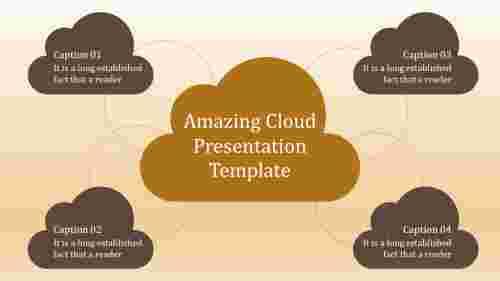 A four noded cloud presentation template