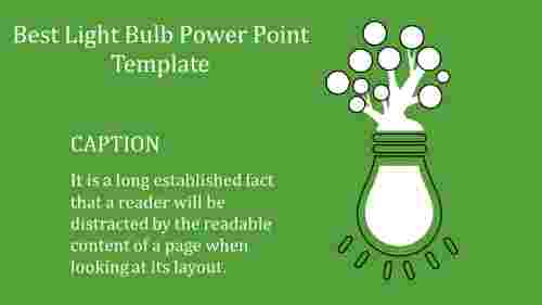 A one noded light bulb power point template