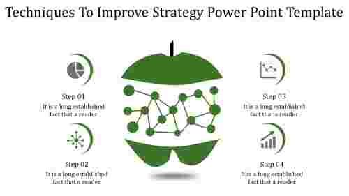 strategy power point template-Techniques To Improve Strategy Power Point Template-green