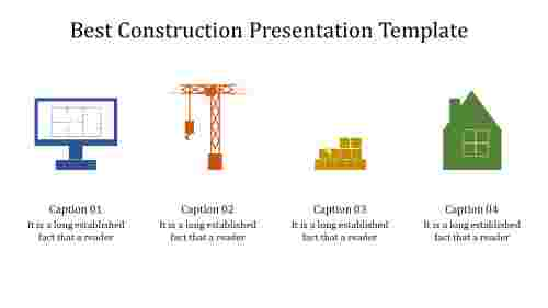 Infographic construction presentation template