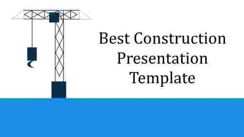 Construction presentation template with recruitment diagram
