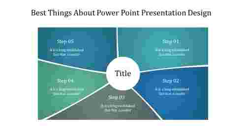A five noded power point presentation design