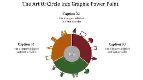 A three noded circle info graphic power point