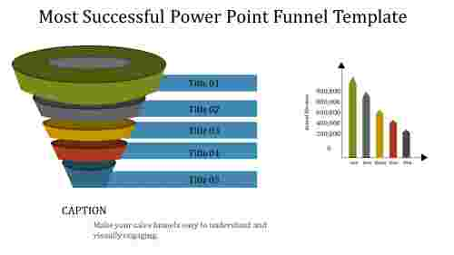 Power point funnel template with chart