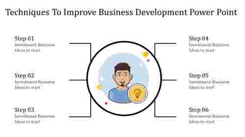 A six noded business development power point