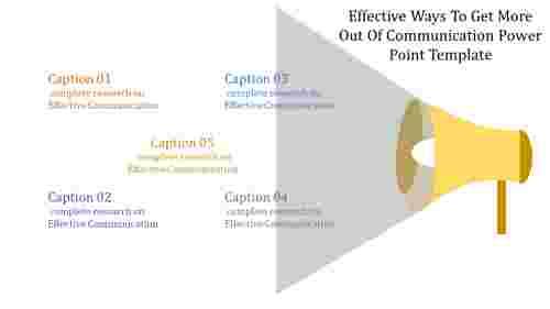 Announcement communication power point template