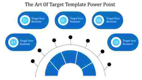A five noded target template power point