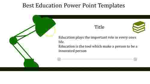 A two noded education power point templates