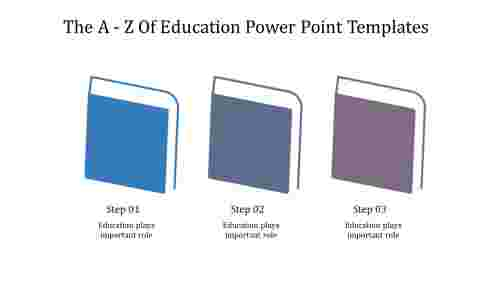 A three noded education power point templates