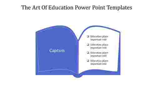 A four noded education power point templates