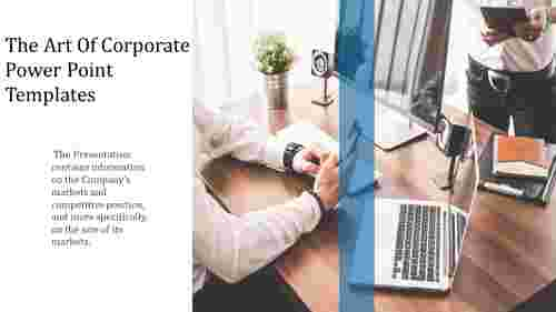 A one noded corporate power point templates