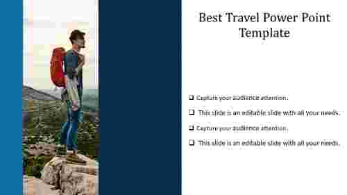 A four noded travel power point template