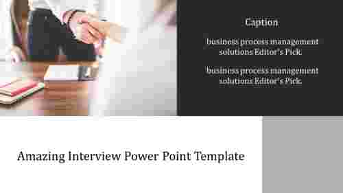 A two noded interview power point template