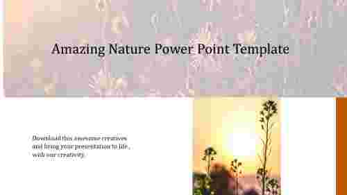 A one noded nature power point template