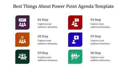 A six noded power point agenda template