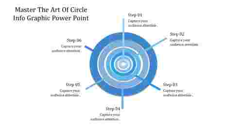 A six noded circle infographic powerpoint
