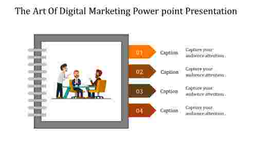 A four noded digital marketing powerpoint presentation