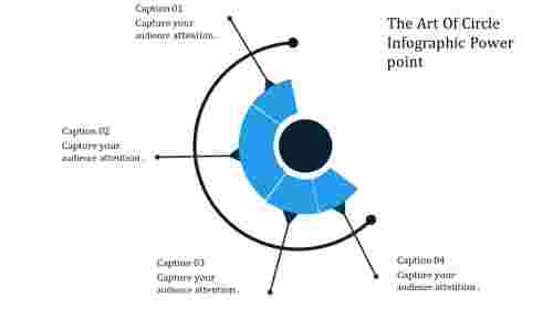 A four noded circle infographic powerpoint