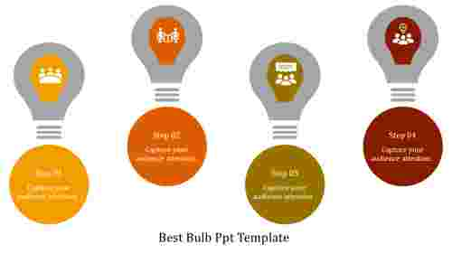 A four noded bulb PPT template