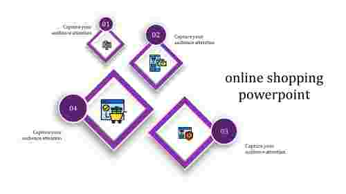 online shopping powerpoint-online shopping powerpoint-purple