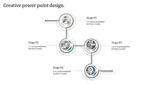Creative Powerpoint Design - Circular loop model