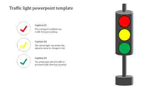 A three noded traffic light powerpoint template