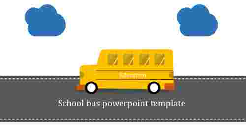 A zero noded school bus powerpoint template