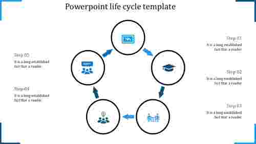 powerpoint life cycle template-powerpoint life cycle template-5-blue