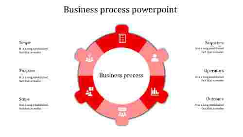 business process powerpoint-business process powerpoint-red