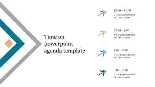 A four noded powerpoint agenda template