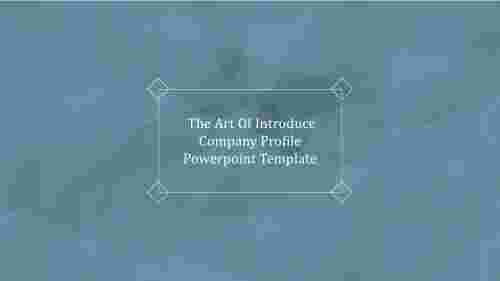 A zero noded introduce company profile powerpoint template