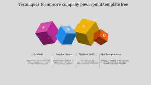 A four noded company powerpoint template free