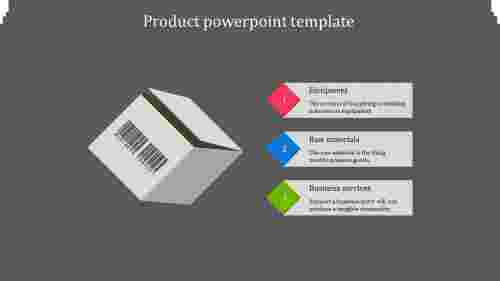 A three noded product powerpoint template