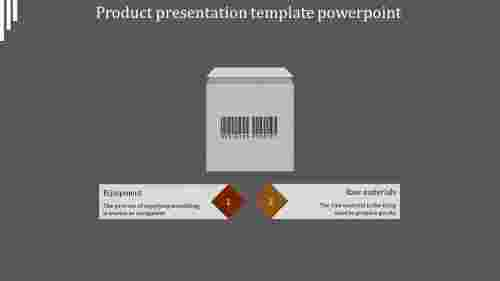 A two noded product presentation template powerpoint
