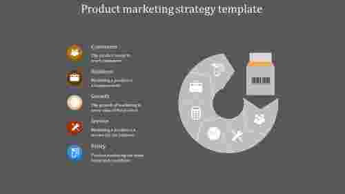 Product Marketing Strategy Template With Grey Background