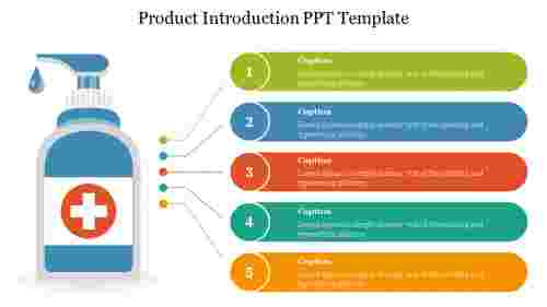 A two noded product introduction ppt template