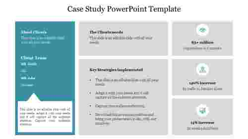 A two noded case study powerpoint template