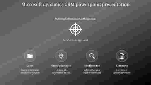 A four noded Microsoft dynamics CRM powerpoint presentation