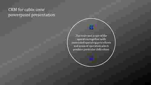 A one noded CRM for cabin crew powerpoint presentation