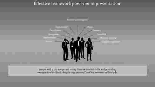 A one noded effective teamwork powerpoint presentation