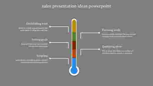A five noded sales presentation ideas powerpoint