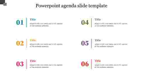 Simple powerpoint agenda slide template