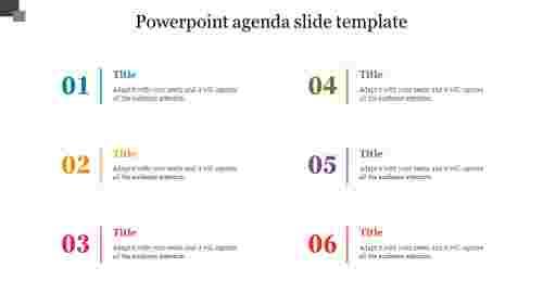 Simple powerpoint agenda slide template