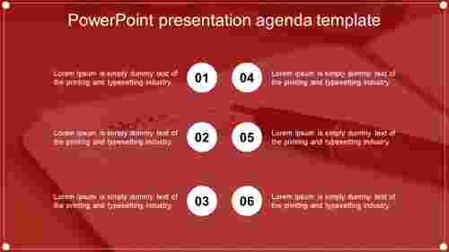 Modern powerpoint presentation agenda template